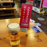 ひろめで安兵衛 - お得セットの生ビール