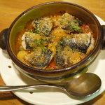 ビストロ オリーヴ - 前菜・大羽イワシとラタトゥユのオーブン焼き800円