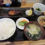 美松 - 「寒ぶり照焼定食」一式
