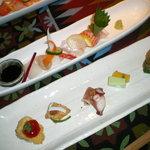 すえガーデン - 前菜と刺身