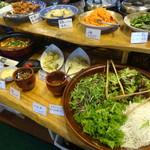 農家レストラン いぶき - ビュッフェコーナー
