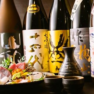 厳選銘柄の日本酒をご用意!
