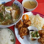 Ramensacchan - 唐揚げ定食とラーメン