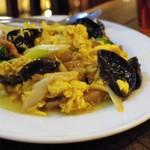中国家常菜 燕郷房 - 豚肉と黒木くらげの卵炒め