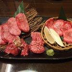 上野太昌園 - タン塩盛り合わせ(3,300円)