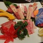 A5仙台牛焼肉&寿司 食べ放題肉18 - お通し盛り