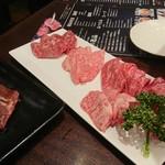 A5仙台牛焼肉&寿司 食べ放題肉18 - 黒毛和牛5種盛り&特選ハラミ