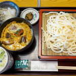 銀座 木屋 - 〔ランチ〕うな玉丼セット(¥1080)。麺だけでなく、つゆもキーンと冷やされている