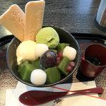 9989190 - 抹茶寒天パフェ 840円。上本町店限定とありました。2011.10.20
