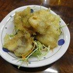 永楽食堂 - 今回のお通し ホッケの天ぷら