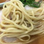 中華蕎麦 とみ田 - 麺アップ