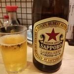 99901608 - 瓶ビール(サッポロ赤星)(550円)