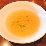 アシヤ食堂 manchos! - セットのスープ