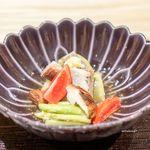 観山 - 翡翠ナス、 秋刀魚、 アイコ、 アスパラ、 椎茸のお浸し