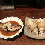 99908062 - お通し イワシの甘露煮とつぶ貝