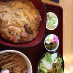 長寿庵 - 玉子丼セット、少し濃いめ?でも味は美味しい。