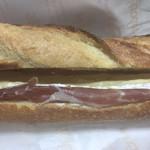 99910698 - 生ハムとカマンベールチーズが入った、ジャンボンクリュブリドモード?(名前違ってたごめんなさい。税別1050円)