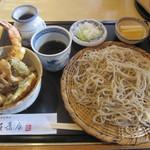友蕎庵 - 料理写真:「ミニ天丼セット ¥1.000」