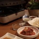 京の韓国家庭料理 ハムケ - サムギョプサルセットの(