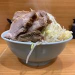 ラーメン二郎 - 料理写真:【2019.1.6】小ラーメン750円+豚増し150円+RED WARRIOR100円