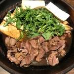 板蕎麦 山灯香 - 合鴨のすき焼き