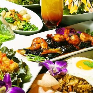 タイを中心とした多彩なアジアン・エスニック料理