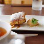 Restaurant Potager - 提供前に焼いた林檎パイ(アップルパイ)