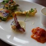 Restaurant Potager - 彩り鮮やかな前菜プレート