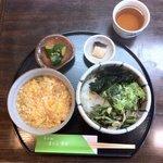 Sobadokoronishimura - 田舎蕎麦定食(田舎蕎麦・玉子丼小)