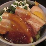 北谷食堂 - ミニラフテ-丼