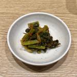 丸源ラーメン - 野沢菜