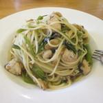 博多 なぎの木DINING - 空芯菜と鯖のパスタ