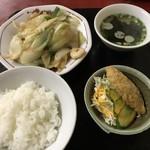燕京 - 料理写真:八宝菜定食=700円
