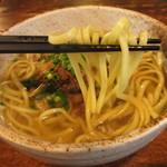 そば処 竹の子 - 平打ち麺