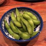 99943732 - お通しの「枝豆」@200円。