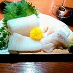 百織 - ヤリイカの刺身 880円