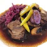 99947893 - 牛ほほ肉のフォンドボーソースを色々お野菜で^^