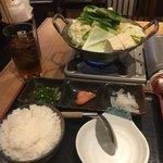 博多もつ鍋おおやま - 1人でサクッと食べられるのありがたい!明太子とご飯が幸せ〜!