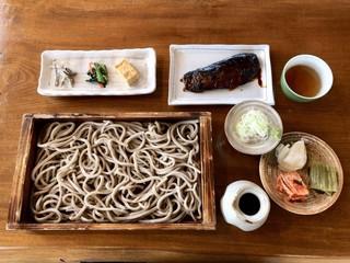 蕎麦処 若佐 - 太打板そば+手造りにしん煮 ¥1100