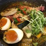 99951459 - チキンと野菜のスープカレー 半熟カレー味玉トッピング