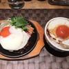 スタイリッシュグリル Tyu - 料理写真:ベーコンエッグチーズハンバーグ ハンバーグ増量(70g)とエッグごはん
