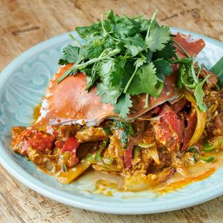 ◆大人気◆渡り蟹のポンカリー炒め