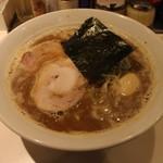 麺屋錦 - らーめん(770円、斜め上から)