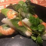 ベトナム料理 アンナンブルー - ゴイクン(エビ入り生春巻き/6ピース) 1,450円