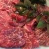 川仙 - 料理写真:大将オススメの銘柄牛の刺身