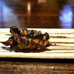 山の茶屋 - 【ランチ 9,000円コース】肝焼き:初期状態