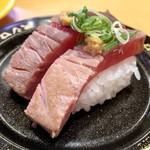 スシロー - 鮪とろのレアステーキにぎり324円