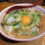 井の頭ナムチャイ - 『天理ラーメン+生卵』 750円。
