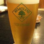 蕎麦屋 籔半 - ハートランドビール