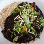 玄米かりぃオーガニック米野 - イカ墨の黒カリー